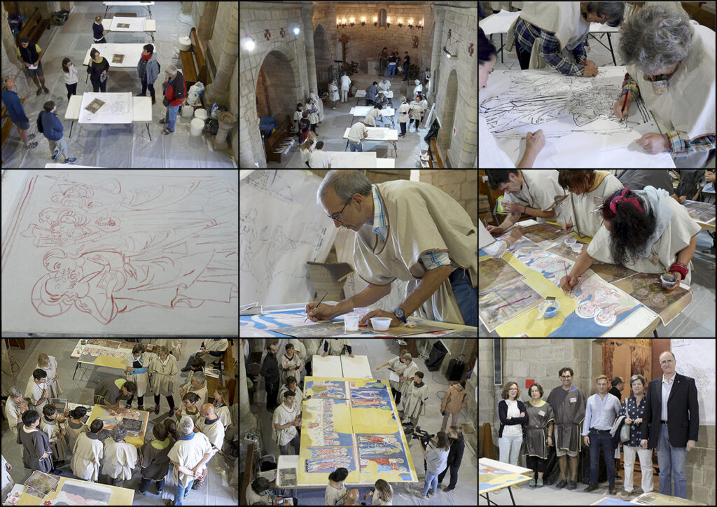 Proceso de ejecución de las reproducciones de pintura mural de Urriés.