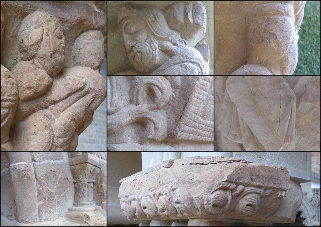 Estado de conservación del claustro del antiguo monasterio de San Juan de la Peña.